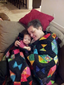 Snuggling with grandma