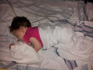 Finally slept in the crib Saturday night