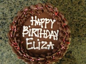 Cake for the birthday girl: gluten-free, egg-free, dairy-free