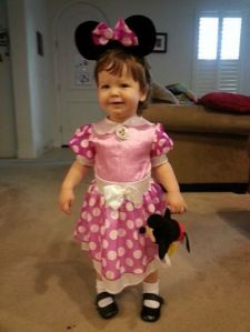 Minnie before trick-or-treating