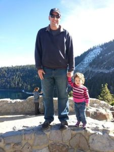 Emerald Bay with daddy
