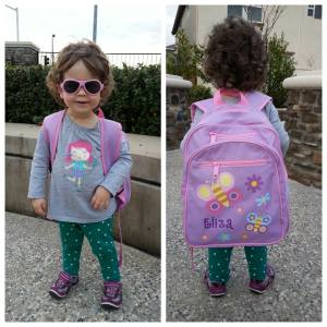 With her backpack and babiators