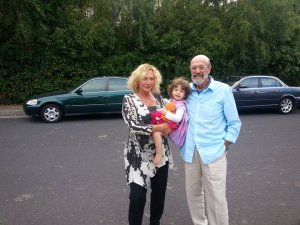 Eliza with grandma Elayne and grandpa Ralph