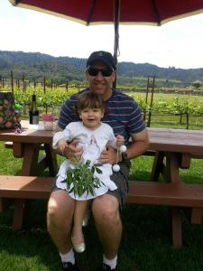 Winery fun with daddy