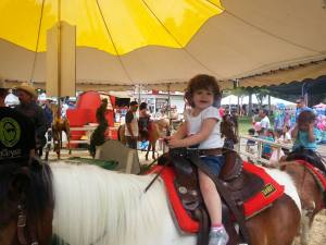 Riding a horse at the Alameda County Fair