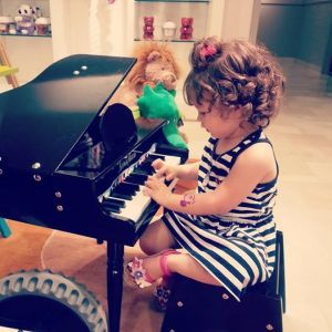 Playing piano at Neiman Marcus