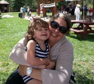 Mommy & Eliza on July 4th
