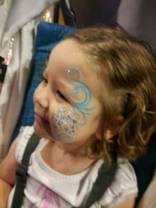 Face paint at Circus Circus