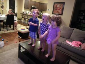 Singing Let it Go with Daniel and Emily