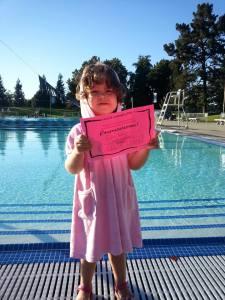 Last day of swim lessons
