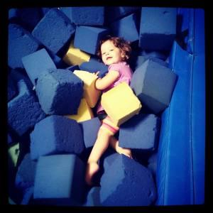 Fun in the foam pit