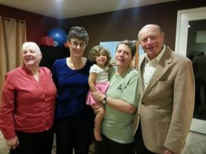 With Carole, Aunt Ruth, grandma and Bob