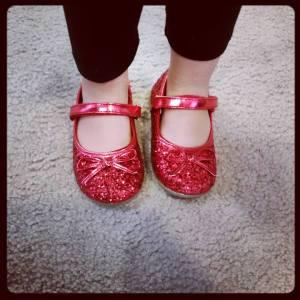 Fun and sparkly red shoes!