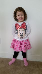 I want to wear my Minnie shirt and my skirt from Stephanie.