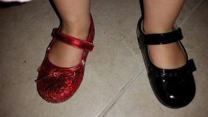 Two different shoes