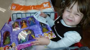 Princesses with her Christmas money!