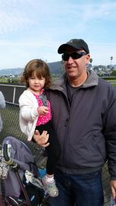 Fun with daddy at the horse races