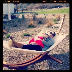 In the hammock at Dan's