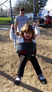 Swinging on a beautiful day!