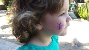 Face paint at the zoo