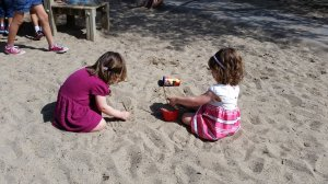 Playing in the sand with Summer