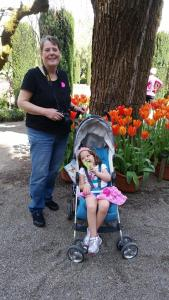 Filoli Gardens with grandma