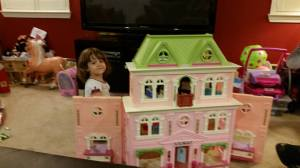 Her new dollhouse